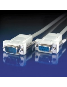Cable Serie 1,8 M. RS232 DB9 Macho-Hembra VALUE