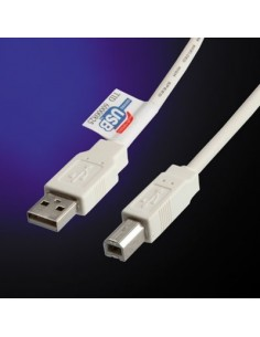 Cable USB 2.0 0.8 M. para  impresora A-B VALUE