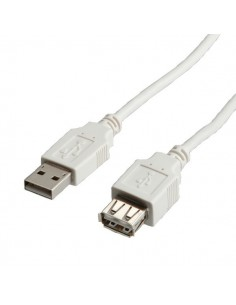 Cable USB 2.0 0,8 M. Prolongador A M-A H VALUE