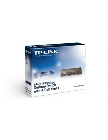TP-LINK TL-SF1008P Switch 8 ptos 10/100/ 4 PoE