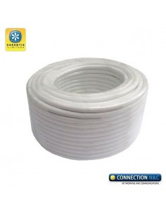 Cable RG59 Mini+2x 0.5 100m RG59+ aliment. blanco