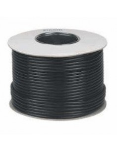 Cable RG59 Mini+2x 0.5 100m RG59+ aliment. negro
