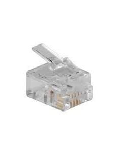 Conector RJ11 6/4 para conectar a roseta