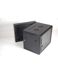 AK6-550 Armario 6U fondo 550 Negro