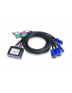 ATEN CS64AZ KVM 4 Pcs PS/2 Compacto incluye cables