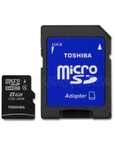 TOSHIBA Tarjeta MICRO SD HC 8 GB Clase 4