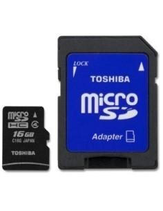 TOSHIBA Tarjeta MICRO SD HC 16GB Clase 4