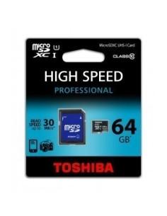 TOSHIBA Tarjeta MICRO SD XC 64GB Clase 10