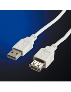 Cable USB 2.0 0,8 M. A M/A H Beige STANDAR