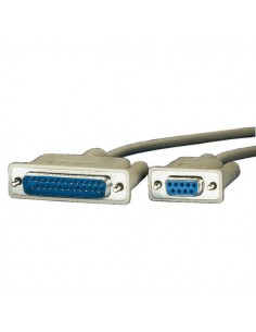 Cable Serie 1,8 M. DB9 H - DB25 M ROLINE