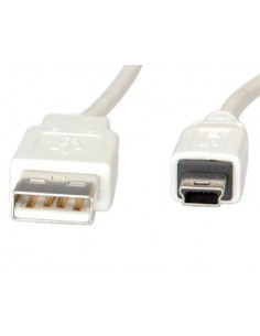 Cable USB 2.0 3 M. A M/ MINI USB (5 PIN) Blanco VA
