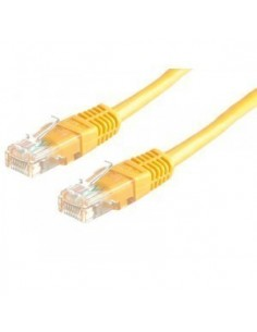 Latiguillo 0.5m RJ45 CAT6 UTP Amarillo ROLINE
