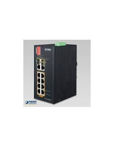 PLANET IFGS-1022HPT Industrial 8 port...