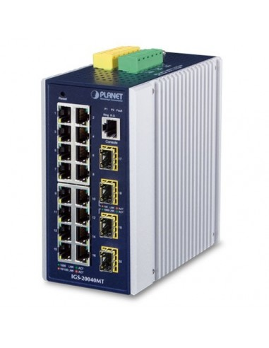 PLANET IGS-20040MT IP30 Switch L2+ 16...