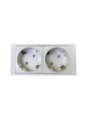 Módulo 2 schukos Blanco para cajas 800x