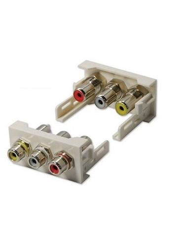 MODULO DE 45X22,5 CON CONECTOR 3RCA H-H
