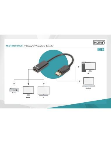 DIGITUS Adaptador DisplayPort M- HDMI-H