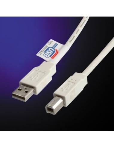 Cable USB 2.0 0.8 M. para  impresora...