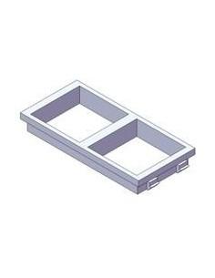 Placa de 2 huecos de 45x45 mm para caja