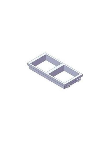 PLACA DOBLE 2 HUECOS  45x45 ( PARA...