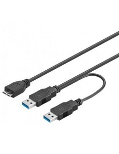 Cable USB 3.0 2 USB A Macho...