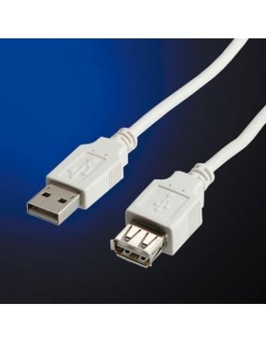Cable USB 2.0 0,8 M. A M/A H Beige...