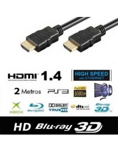 Cable HDMI 1.8M 3D + Ethernet tipo A macho