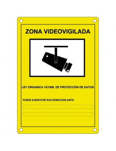 Cartel CCTV estándar
