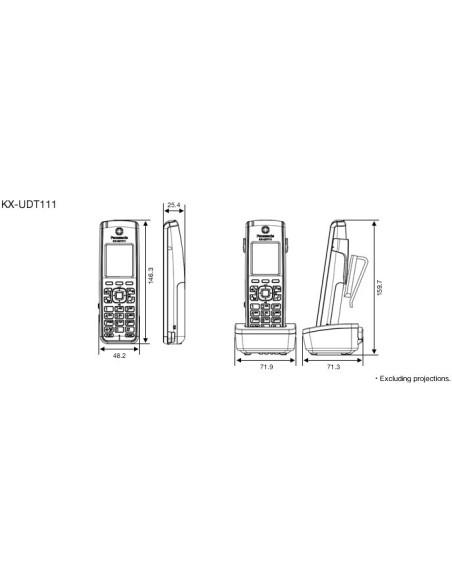 "PANASONIC KX-UDT111 Terminal DECT LCD 1,8"""