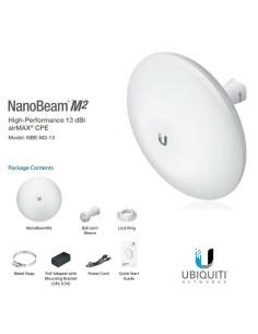UBIQUITI NBE-M2-13 2.4GHz NanoBeam AIRMAX 13dBi