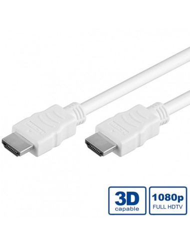 Cable HDMI 10M M-M Alta Velocidad Ethernet blanco