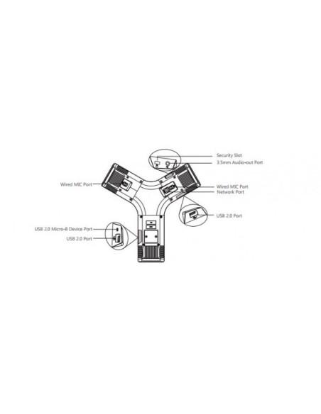 "YEALINK CP960 Terminal de Audioconferencia HD pantalla táctil 5"""