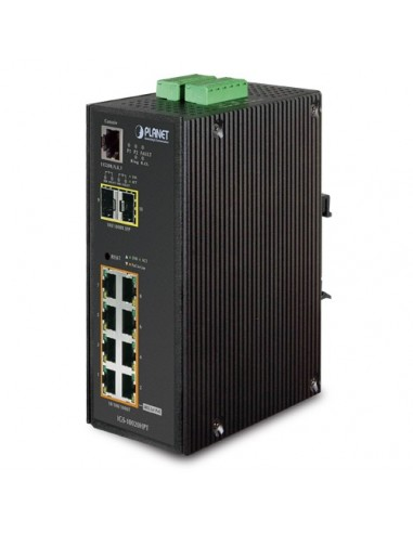PLANET IGS-10020HPT L2+ Industrial 8 port PoE+ 2SF