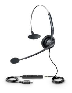 YEALINK YHS33-USB Auricular con Micrófono USB/Jack