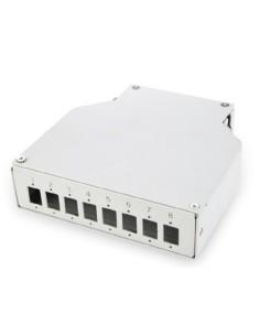 Caja fibra metalica para 8 SC Simp./8 LC Dup DIN