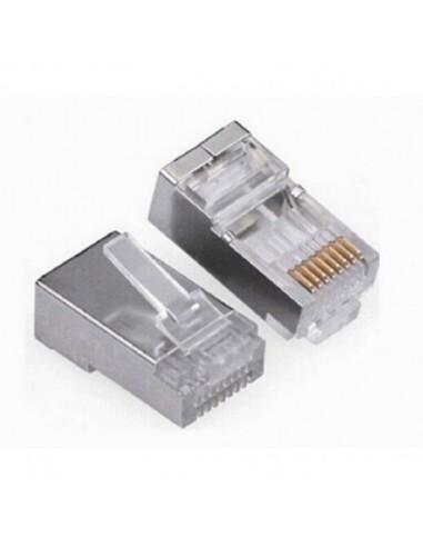 Conector Macho RJ45 C5 S/FTP Metal10...