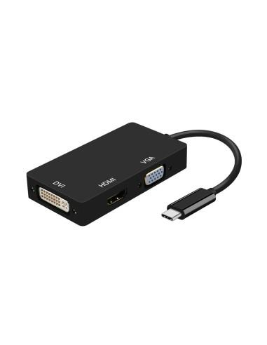 AISENS  USB-C A DVI/HDMI/VGA NEG 15CM...